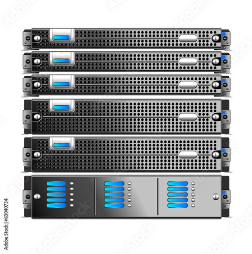 Rack, of Servers isolated