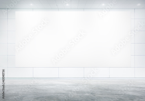 Blank White Billboard In A Board Room
