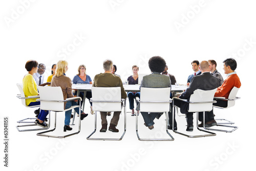Group of Multi-Ethnic People in a Meeting