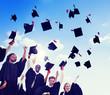 Multiethnic Students Celebrating Graduation