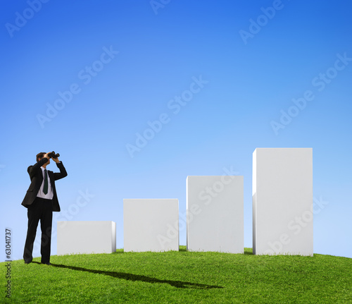 Businessman Forecasting the Growth of Business