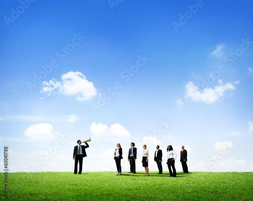 Business Leader Directing a Team
