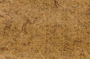 Mat made of coconut fiber for background