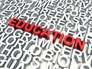Word Education. Keywords concept.