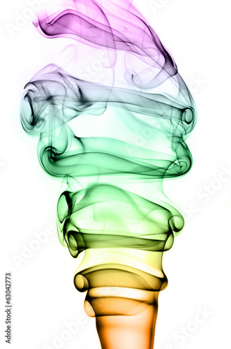 Tuinposter Rook colorful smoke