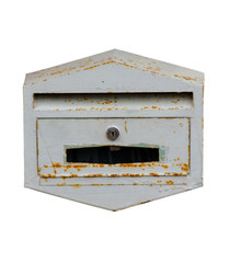 mailbox at home on white background