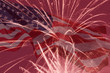 Independence Day holiday background with fireworks