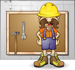 Construction Worker Cartoon Character