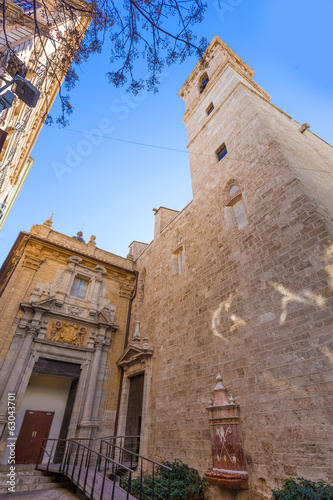 Valencia San Martin church facade of Spain