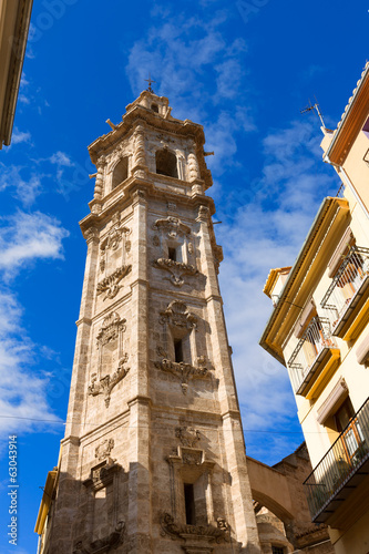 Valencia Santa Catalina church belfry tower Spain