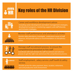 Infographic of human resource role and responsibility