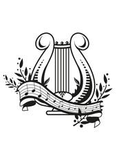 Harfe mit Banner
