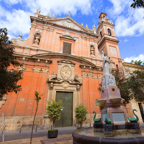 Valencia Santo Tomas church in plaza san Vicente Ferrer Spain