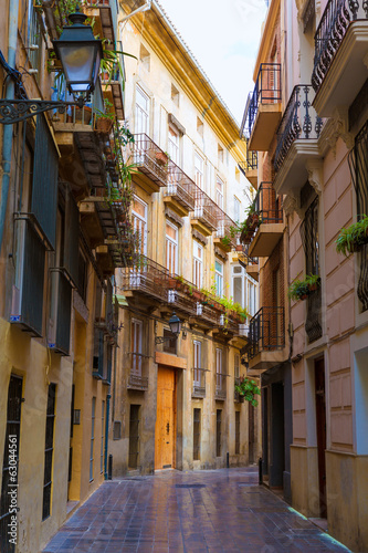 Valencia Carrer del Tossalet traditional street Spain