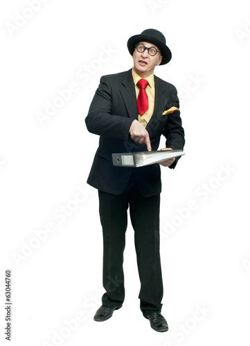Businessman with folder