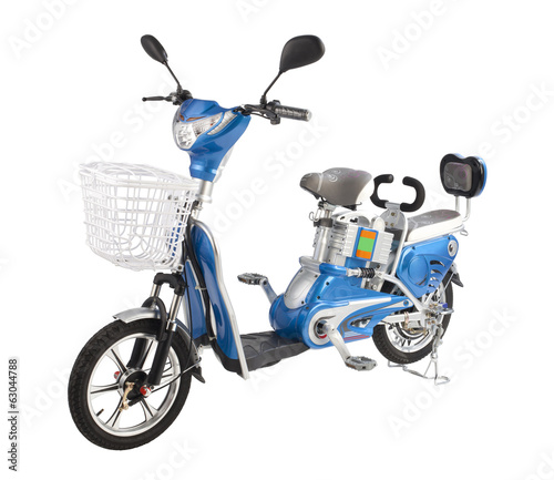 Electric bicycle isolated on white background