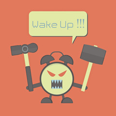 angry alarm clock