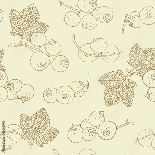 Currant hand drawn seamless background