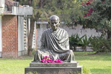 Mahatma Mahatma Gandhis statue in Sabarmati Ashram, Ahmedabad