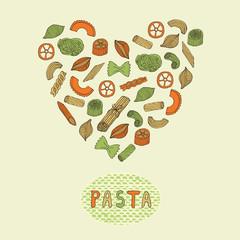 Retro pasta card