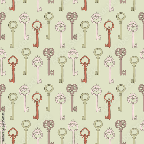 Key retro seamless background