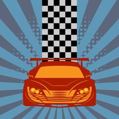 Race garage background, vector illustration