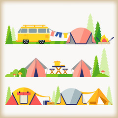 vector of camping