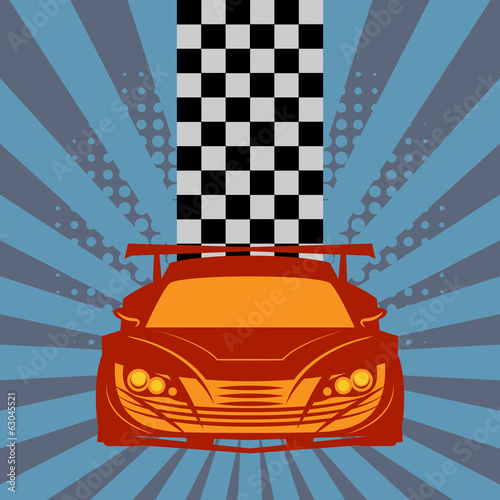 Race garage background, vector illustration