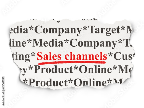 Advertising concept: Sales Channels on Paper background