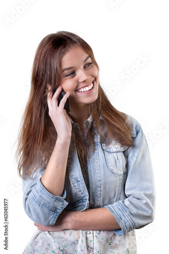 Young girl on the phone
