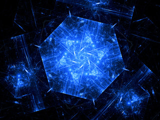 Blue nanotechnology background