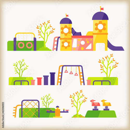 vector of playground