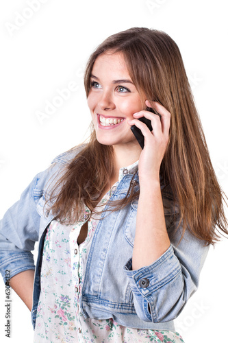 Teenager talking on the phone