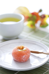 秋の和菓子 柿