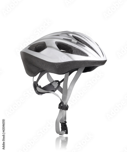 Mountain bike safety helmet isolated on white background