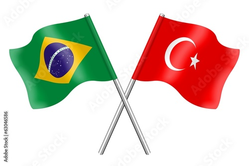 Flags: Brazil and Turkey