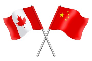 Flags : Canada and China