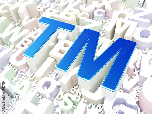 Law concept: Trademark on alphabet background