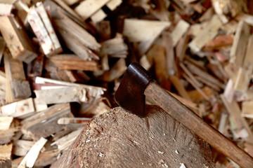 Ax & wood
