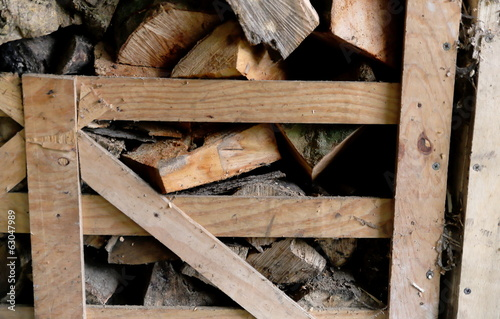 Wood in farm