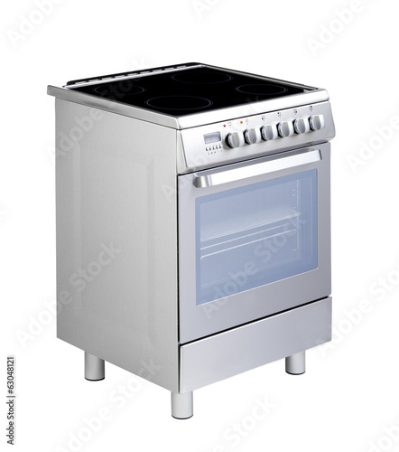 Electric stove a useful kitchenware isolated on white background