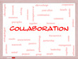 Collaboration Word Cloud Concept on a Whiteboard