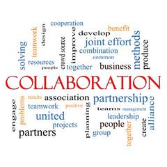Collaboration Word Cloud Concept