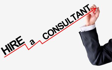 Hire a consultant concept