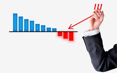 Negative cash flow concept
