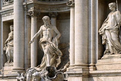 Statue of Oceanus, Trevi Fountain, Rome