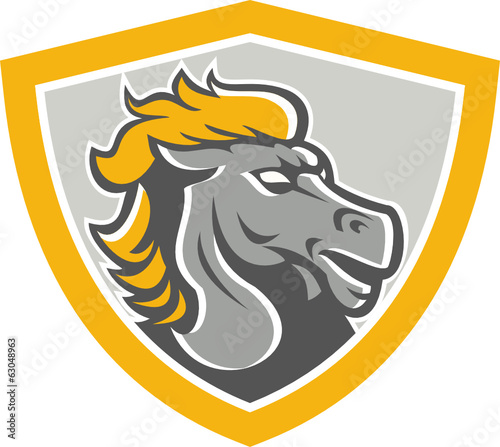 Bronco Horse Head Shield