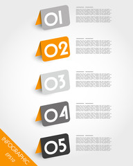 orange origami oblique rounded standing stickers