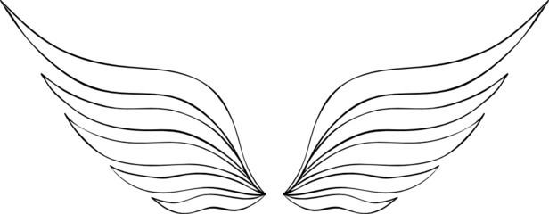 abstrakte Flügel Vorlage