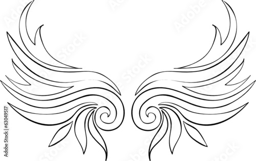 vektor abstrakte flügel tattoo